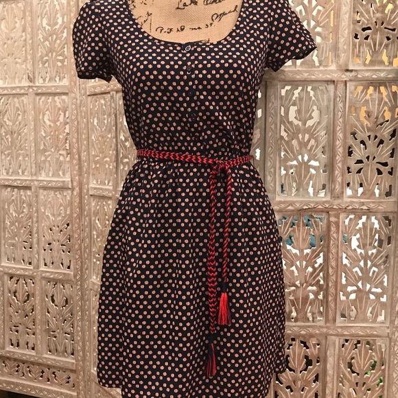 Xhilaration Dresses & Skirts - Red white and blue dress with accent belt.